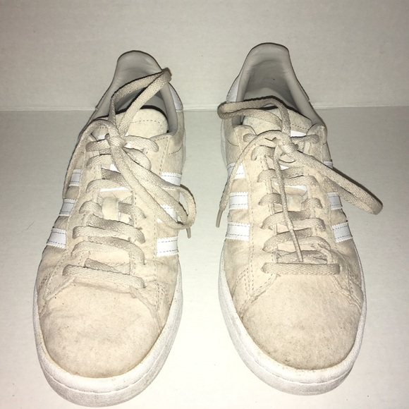 Adidas Campus Suede Cream Sneakers! Women's Sz: 6